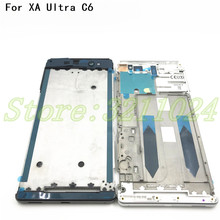 New Front Plate Bezel Housing LCD Frame Cover For Sony Xperia XA Ultra C6 F3215 F3212 Front Housing Faceplate Repair Parts new orig for sony vaio svf142a touchscreen lcd back cover front bezel eahk8004010 4hhk8bhn000 black