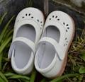 Meninas sapatos de couro genuíno branco rosa mary jane recortes de flores para a primavera verão outono em o casamento christenning qualidade barato