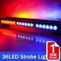 Lateral doble 108 W 36LED Luz de Trabajo Bar Luz de Advertencia de Beacon Strobe Light Rojo Azul blanco