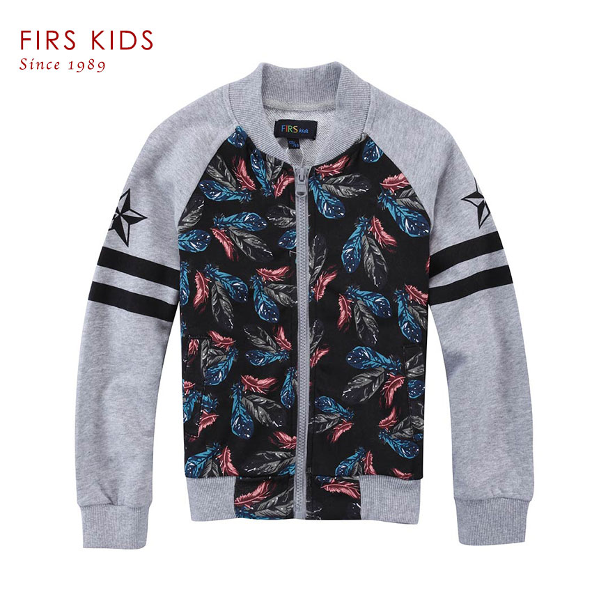 ФОТО FIRS KIDS 2016 New Children's Spring& Autumn jacket for a boy fashion Printed pattern children coat Long sleeve zipper kids coat