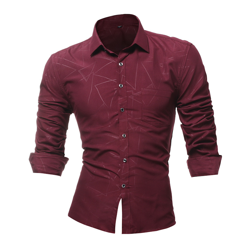 2018 Mens Dress Shirts Long Sleeve Slim Fit Casual Man Chemise Homme New Fashion Classic ...