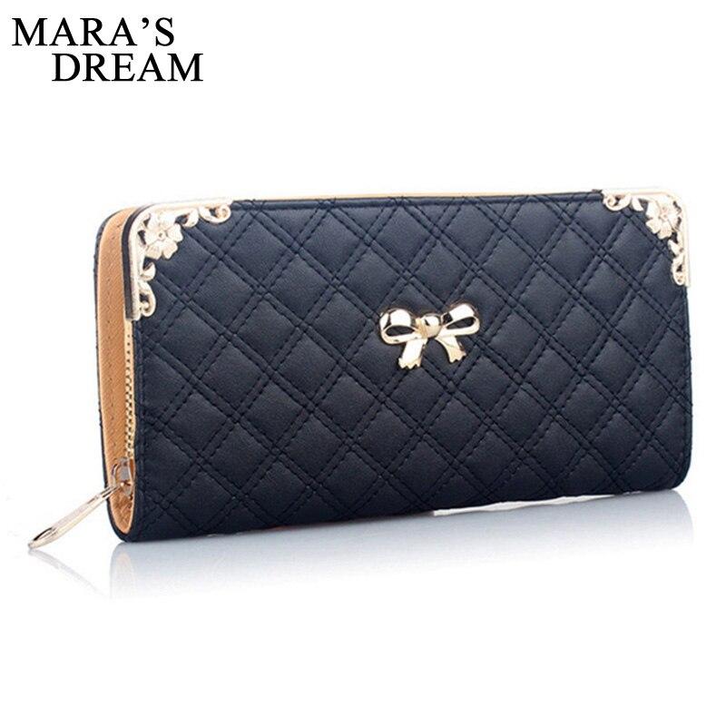 Mara's Dream Fashion Women Purse High Quality PU Leather Ladies Purse Cute Zipper Wallet Women Luxury Brand Casual Wallet Female