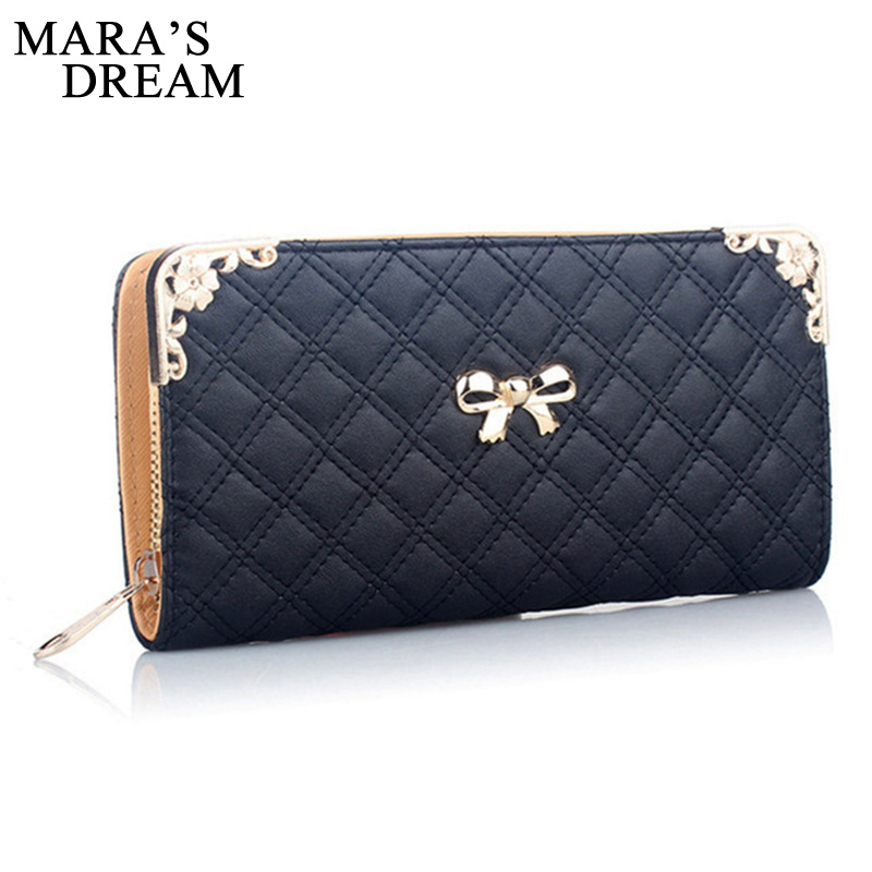 Mara's Dream Fashion Women Purse High Quality PU Leather Ladies Purse Cute Zipper Wallet Women Luxury Brand Casual Wallet Female 2017 brand new cute bowknot purse handbag for women pu leather fashionable wallet zipper high quality free shipping p375