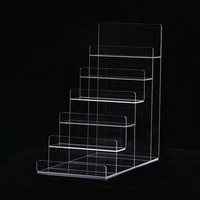 6 Layer Clear Acrylic Wallet Purse Mobile Phone Jewellery Display Stand Card Holder Rack Nail Polish