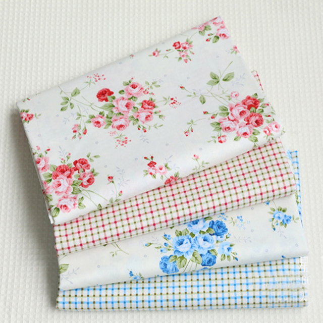 Pretty Brand New 50x40cm Red & Blue Rose Flowers & Square Printed ...