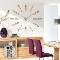 2017 Fashion Quartz Watch Home Decor Limited Sale 3d Big Mirror Diy Real Wall Clock Modern