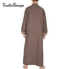 Muslim Islamic Clothing for men Arabia Islamic abaya Men's Kaftan Jubba islam Apparel men thobe  D352