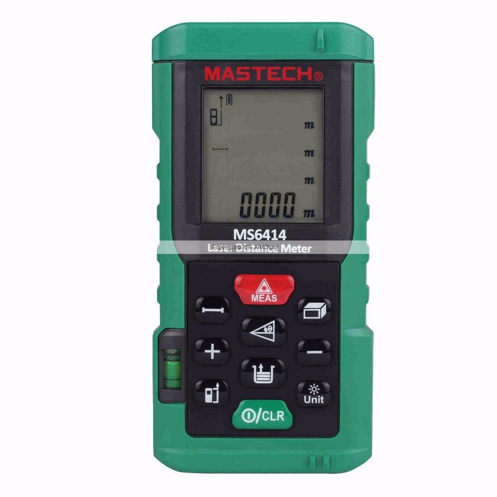 Original MASTECH MS6414 40M Handheld Laser Distance Meter/Range Finder Area Volume Tester цена