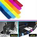 20 unids/lote bobbins Cable organizador gestión marcador soporte cordón lazos cinta mágica correas de plomo para TV ordenador 180x20mm