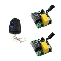 2017 New AC220V RF Wireless Mini Switch Relay Receiver Remote Controllers For Light Switch With 2Buttons