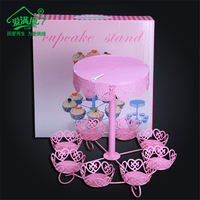 New Arrival Wedding Decorating Metal Cupcakes Dessert Holder Stand 8 Cups Wholesale Cheap Party Dessert Display