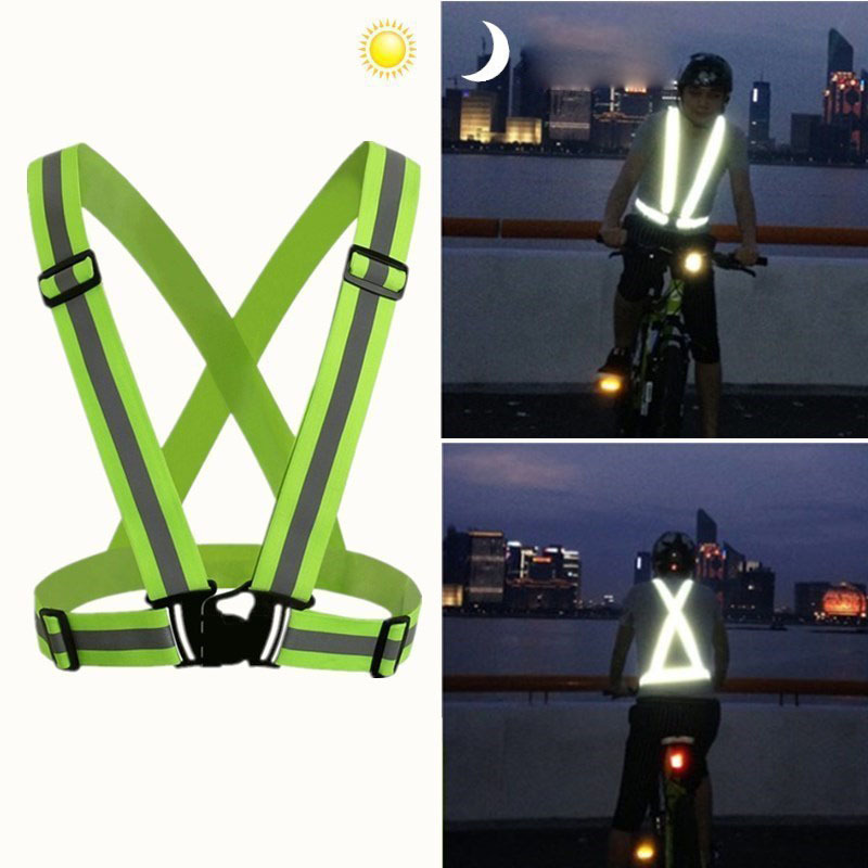 Unisex Reflective Vest Workwear Clothes Night Warning Safety Outdoor For Running Cycling Sports High Visibility Contruction Tops