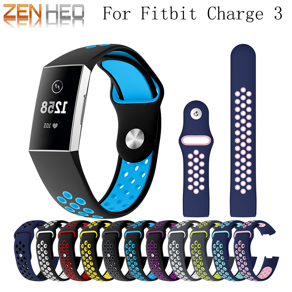 Sport Silicone Strap For Fitbit Charge 3 Bracelet Soft Wrist Belt Watch Strap For Fitbit Charge 3 Band Replacement Accessories