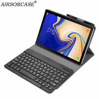 Split type Keyboard Wireless Bluetooth Tablet Case for Samsung Galaxy Tab S4 10.5 SM T830 T835 Case Cover PU Leather Back Cover