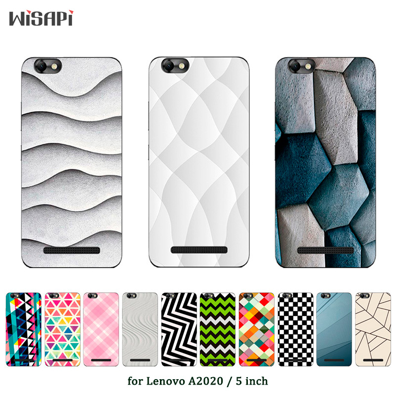For Lenovo Vibe C Silicone Case For Lenovo A2020 A2020a40 DS A 2020 Square Printed Soft TPU Phone Cover for Lenovo Vibe C