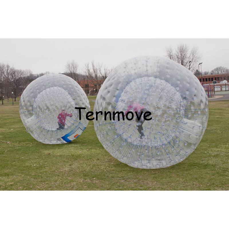 Transparent Giant Cylinder Human Water Bubble Ball Pvc Floating Roller Food Processor Parts
