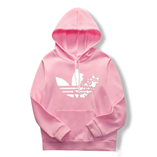 Pink hoodie pullover women's long-sleeved hooded sw