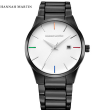 Hannah Martin Luxury Brand Analog sports Wristwatch Display Date Men's Quartz Watch Business Watch Men Watch relogio masculino curren luxury brand nylon strap analog display date men s quartz watch casual watch men sport wristwatch relogio masculino w8195