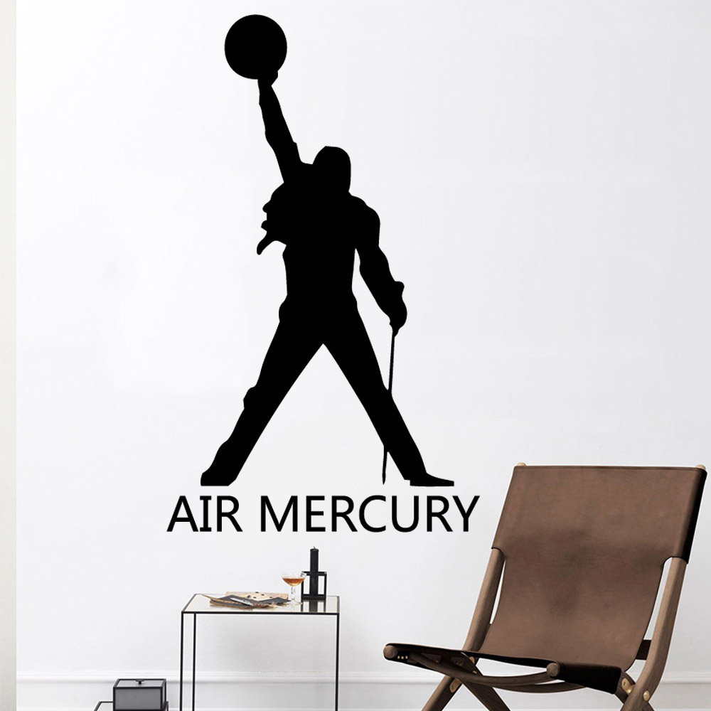 Drop Shipping Freddie Mercury Queen Band Wall Stickers Personalized Creative For Mural Poster