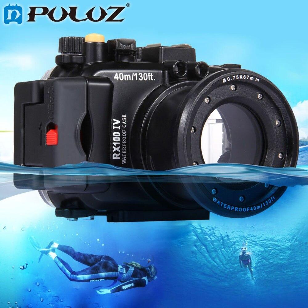 PULUZ 40m 1560 inch 130 ft Depth Underwater Swimming Diving Case Waterproof Camera bag Housing case for Sony RX100 IV meikon 40m wp dc44 waterproof underwater housing case 40m 130ft for canon g1x camera 18 as wp dc44