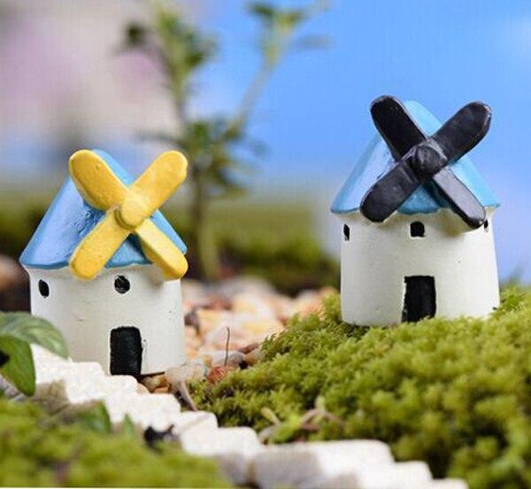 3pcs Mini Resin Windmill Castle fairy garden miniatures Micro ...