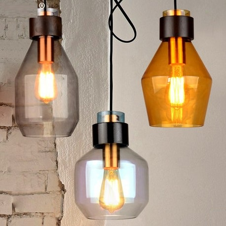 Edison Loft Style Creative Glass Droplight Modern Pendant Light Fixtures For Dining Room Hanging Lamp Lamparas Colgantes