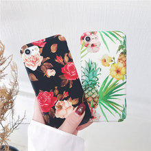 Cyato Phone Cases For iphone 8 Case Letter Pineapple Flower Plant Hard PC Cover iPhone 7 6 6S Plus X Coque