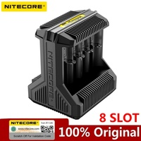 Nitecore i8 Intelligent Charger 8 Slots Total 4A Output Smart Charger for IMR18650 26650 16340 18500 AA AAA 14500 and USB Device