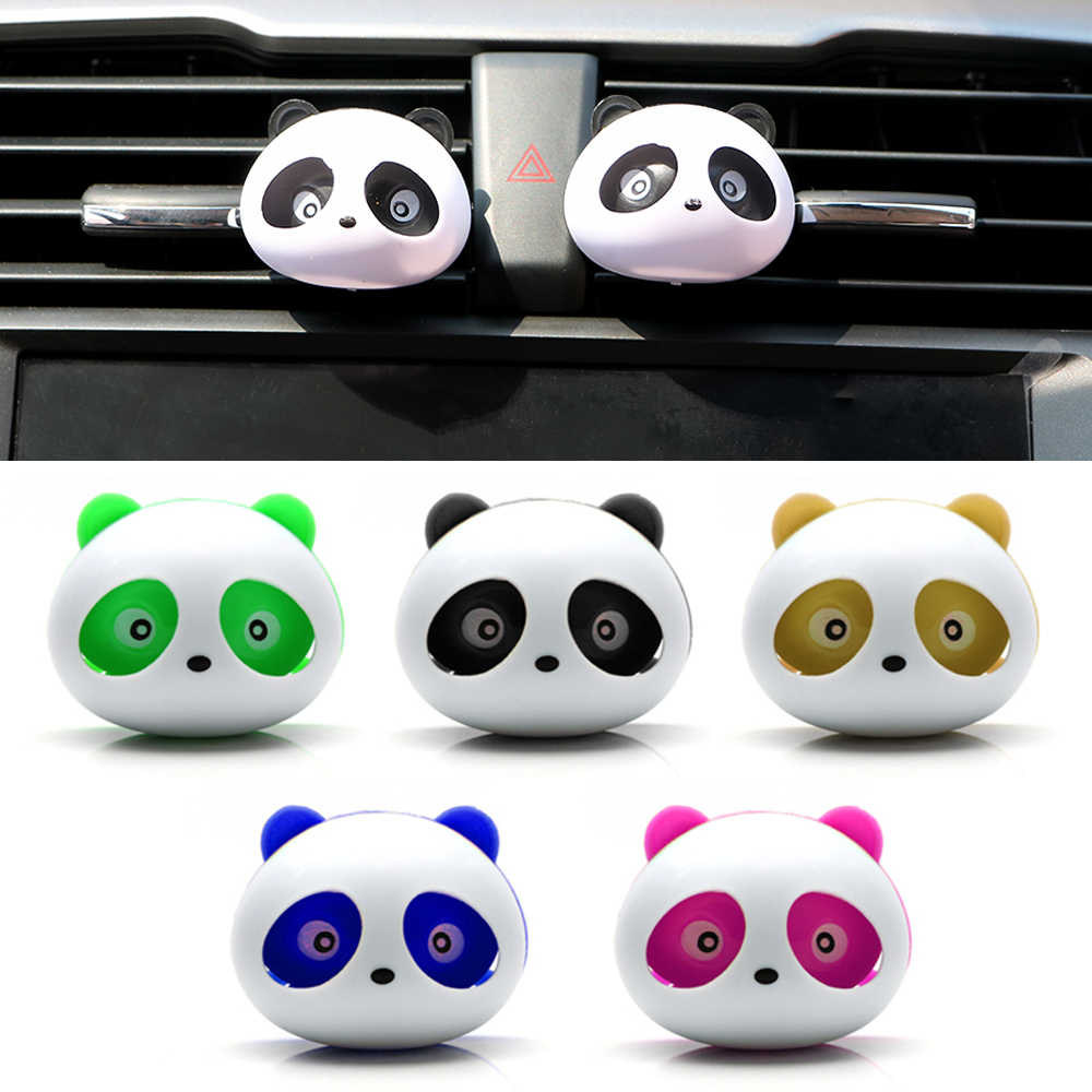 Cute Panda Car Styling Air Freshener Perfume ambientador para auto for Air Vent Decoration Car Smell Flavors Accessories