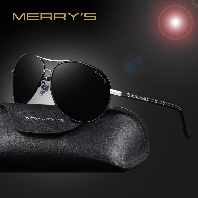4d242deadc Gafas de sol de moda clásicas de aviación de marca de Merry para hombre,  gafas