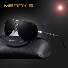 MERRY'S Fashion Classic Brand Aviation Sunglasses Men HD Polarized Aluminum Driving Luxury Design Mens Sunglasses Shades S'8766