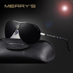 MERRY'S Fashion Classic Brand Aviation Sunglasses Men HD Polarized Aluminum Driving Luxury Design Mens Sunglasses Shades S'8766