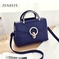 ZENBEFE Марка женщины сумки малый женщины сумка женская мода сумка почтальона сумочки ручки леди ежедневно сумки Ремень Crossbod Bolsa Feminina