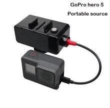 Mais novo movimento da câmera GoPro hero 5 acessórios 5200 mAh banco de potência/supply hero5 gopro 5 bateria para gopro preto câmera de ação