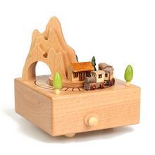 De Home Decoration Accessories La Land Muziek Muziekdoos Spieluhr Wooden Carousel caja Musical Musica Boite A Musique Music Box