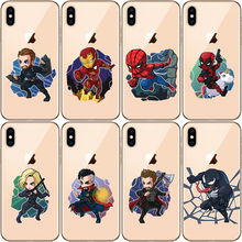 Miracle Avengers Iron Man Captain America Spiderman Fashion Soft Silicone Phone Case For iPhone X XS MAX XR 8 7 6 6S 7Plus 5 5s