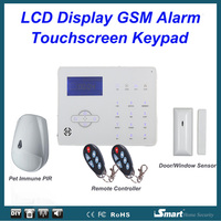 868MHz Dual Network Wireless Wired GSM PSTN Home Burglar Security Alarm System With Pet Friendly Infrared