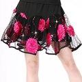 Новый летний кадриль костюм бюст юбки Латинский танец юбка среднего возраста танцы большая юбка женский
