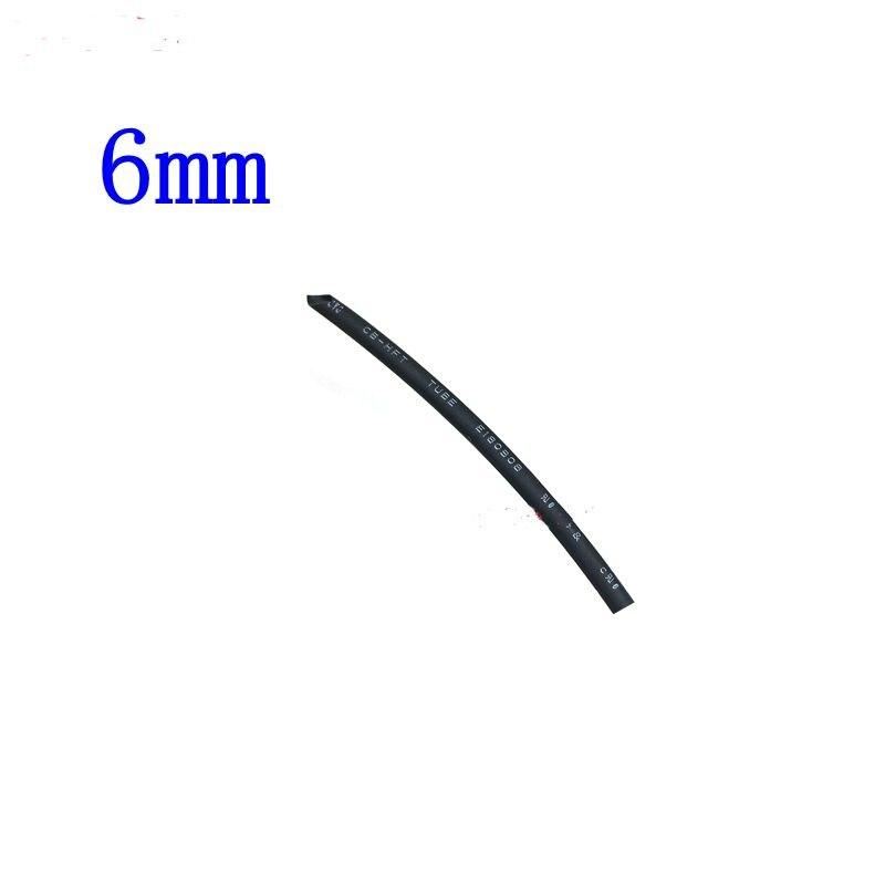 3 Meter/lot 2:1 Black 6mm Diameter Heat Shrink Heatshrink Tubing Tube Sleeving Wrap Wire