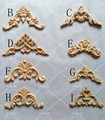 24Pcs/Lot  FURNITURE ARCHITECTURAL CORNER APPLIQUES WOOD UNPAINTED
