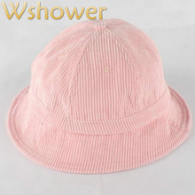 0b0c4b3b971e Which in shower plain dome corduroy bucket hat hip hop blank outdoor fishing  sun cap summer fisherman panama women men