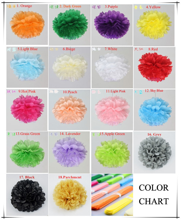 diy 10 inch 25 cm decorative tissue paper pom poms flower balls for birthday party supplies wedding artificial u0026 dried flowers from home