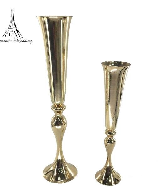 Золотая металлическая ваза для цветов для свадьбы украшение домашнего декора