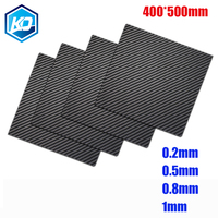 MIZEKONDA 400*500mm Real Carbon Fiber Plate Panel Sheets 0.2mm/0.5mm/0.8mm/1mm Thickness Composite Hardness Material For RC