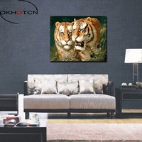 OKHOTCN Lion King Scenery Forest Animal DIY Painting By Numbers Modern Wall Art Hand Painted Acrylic