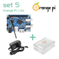 Orange Pi Lite SET5: Orange Pi Lite+ Transparent ABS Case+ Power Supply Supported Android, Ubuntu, Debian