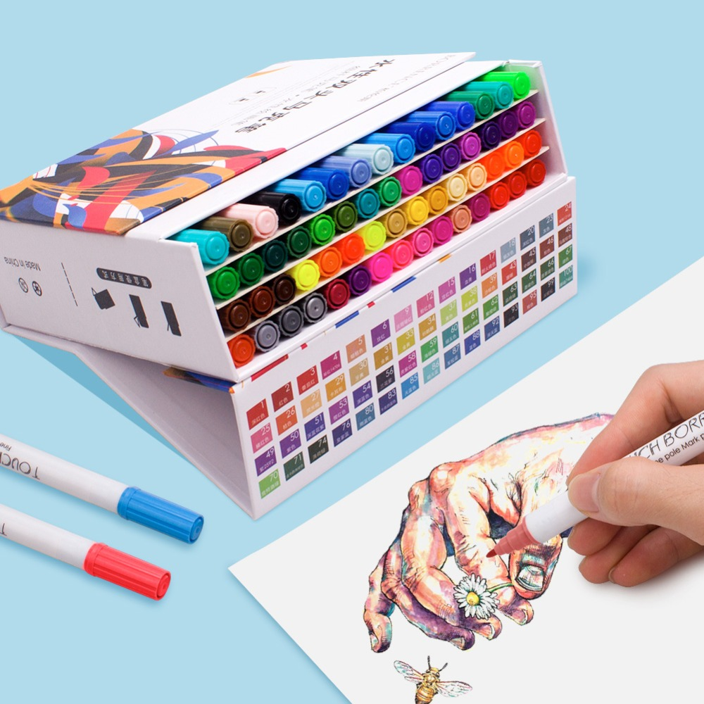 Water-Based Double-Tip Sketch Marker Set ,48 60-color Anime Special Color Primary School Childrens Comics Mike Pen Beginner ArtWater-Based Double-Tip Sketch Marker Set ,48 60-color Anime Special Color Primary School Childrens Comics Mike Pen Beginner Art