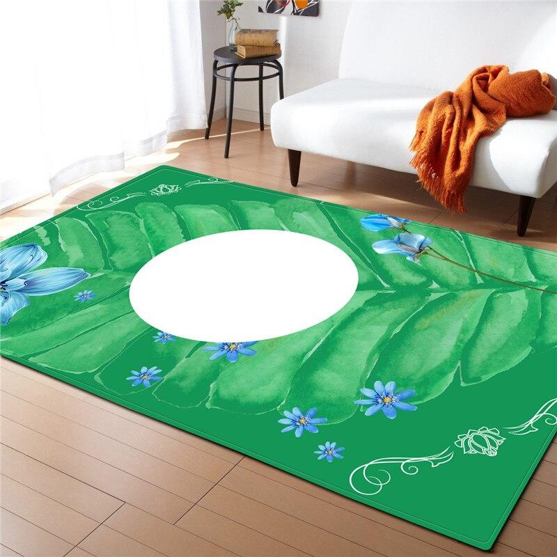 Creative coloré abstrait peinture impression tapis zone tapis couverture anti-dérapant Floormat pour salon chambre décoration de la maison