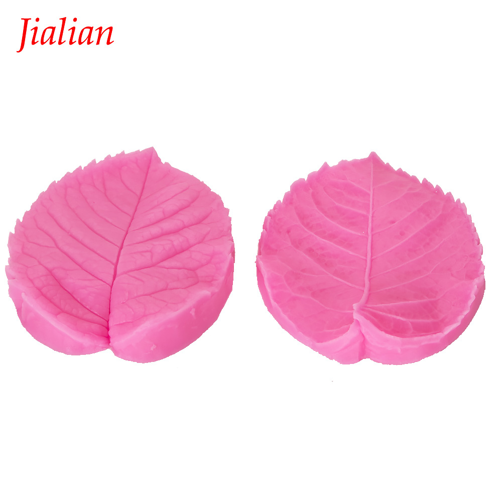 Leaf Shape Embossed fondant silicone mold kitchen baking chocolate pastry candy Clay making cupcake lace decoration tools F-0115