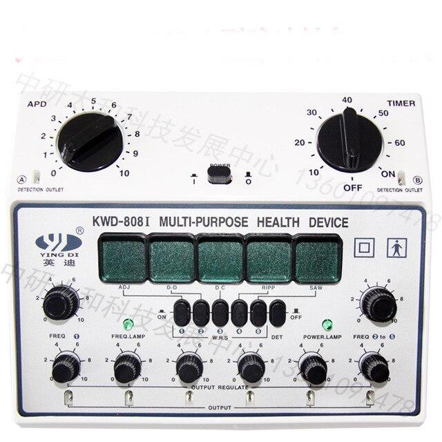 Electro acupunctuur apparaat naald stimulator KWD 808 II 6 kanaals uitgangen Pijnbestrijding Spier Stimulator-in Massage & Ontspanning van Schoonheid op  Groep 1